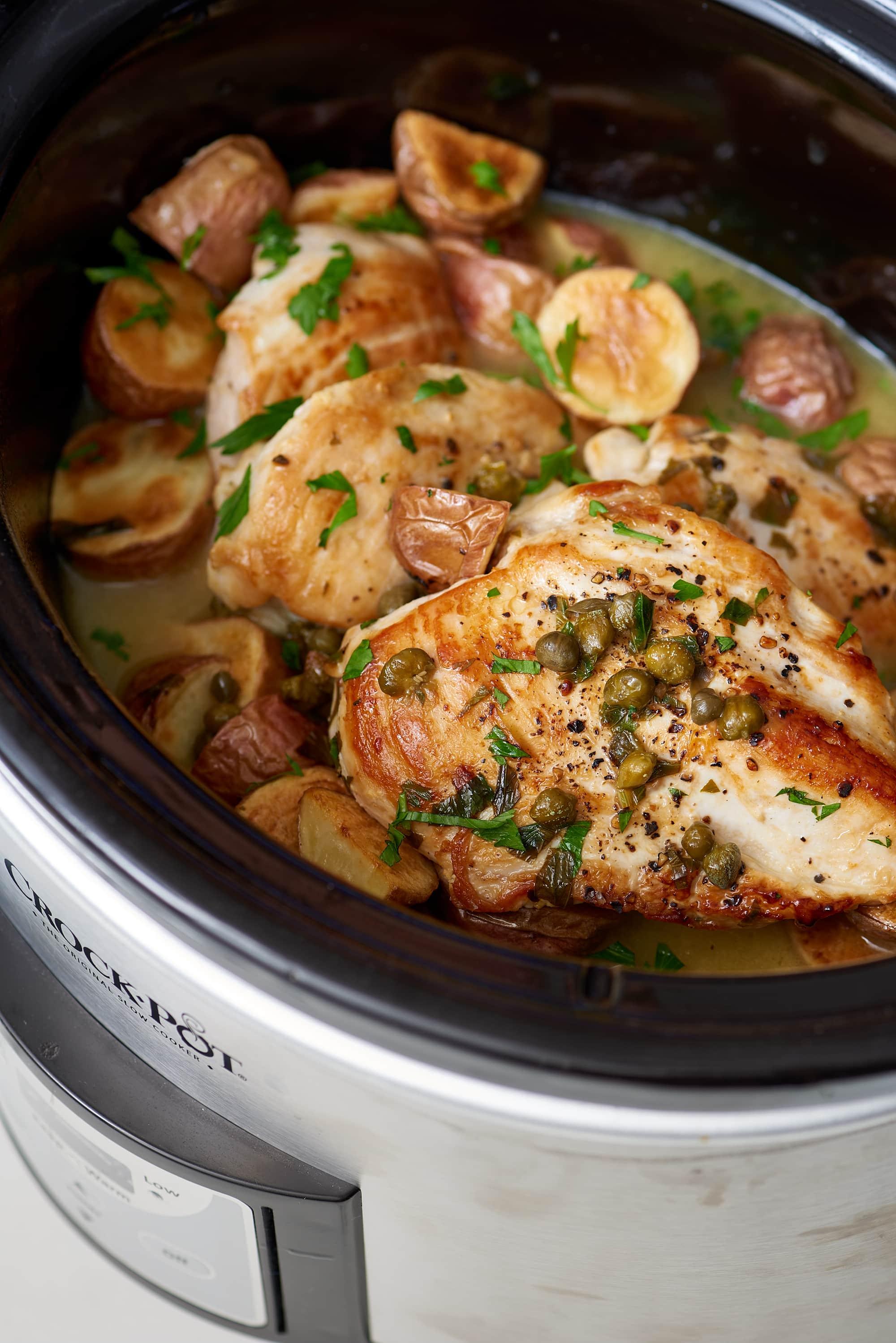 Recipe: Slow Cooker Chicken Piccata
