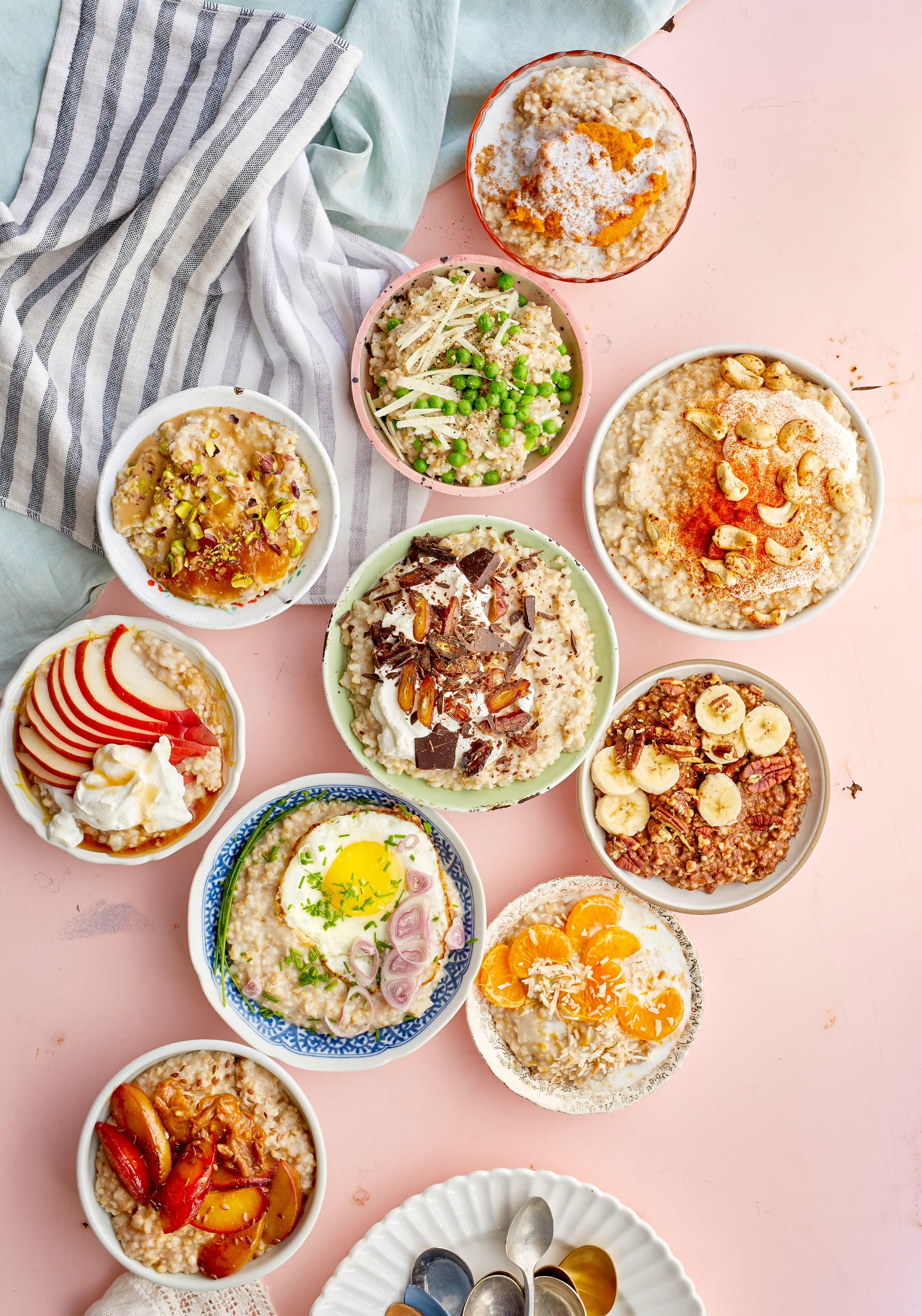 10 different toppings for oatmeal