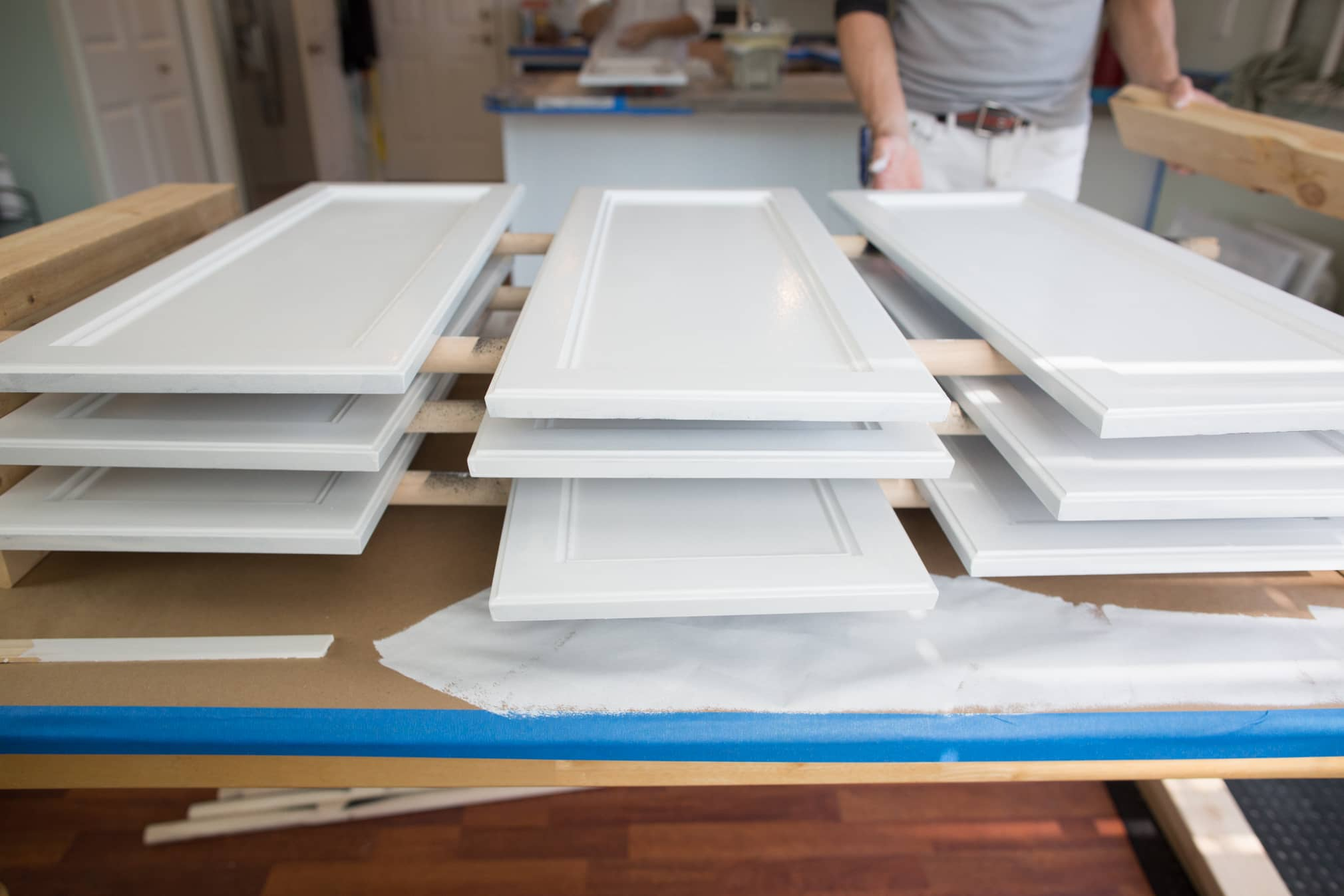 How to paint your kitchen cabinets so it looks like you totally replaced them gallery