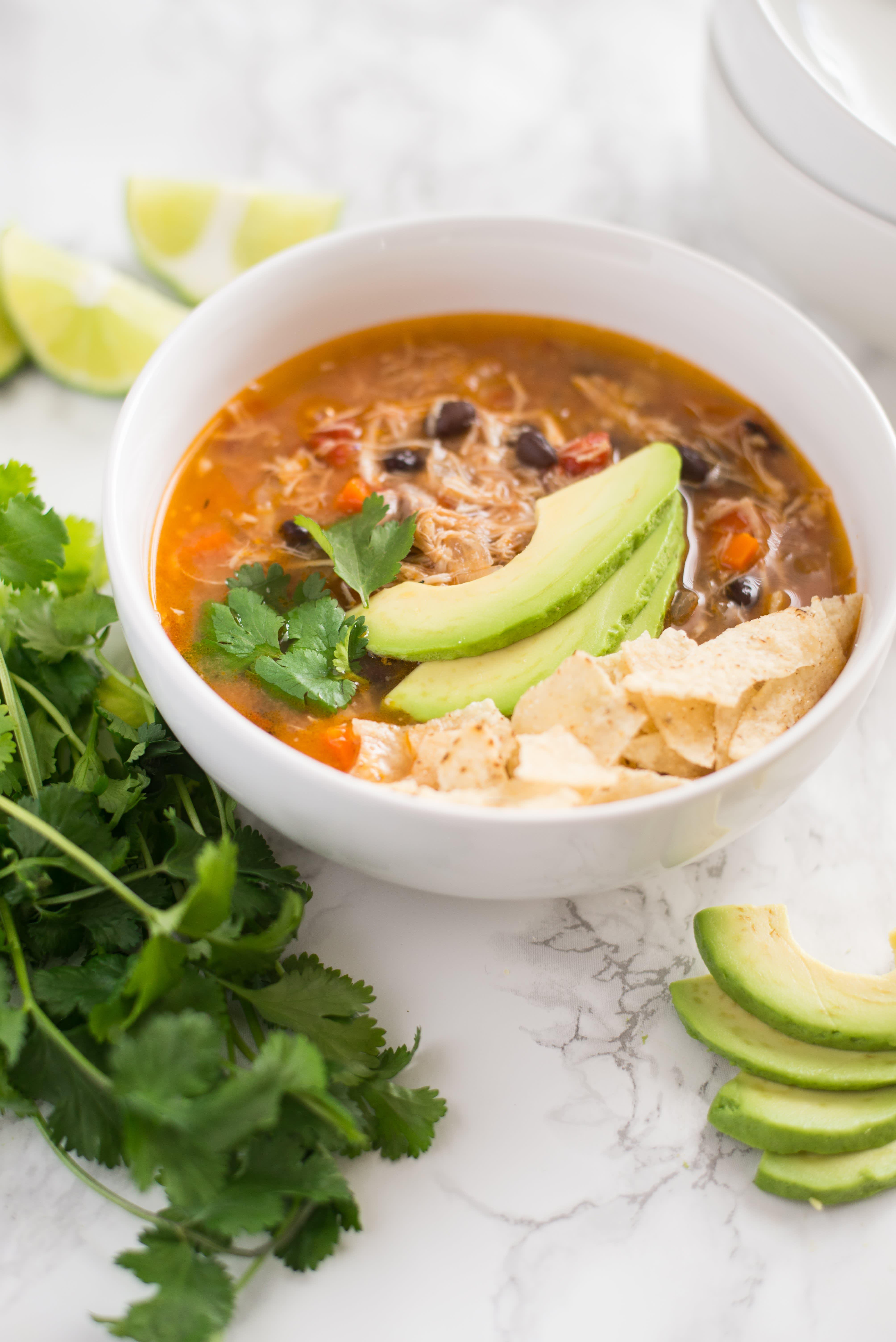 Slow Cooker Tortilla Soup
