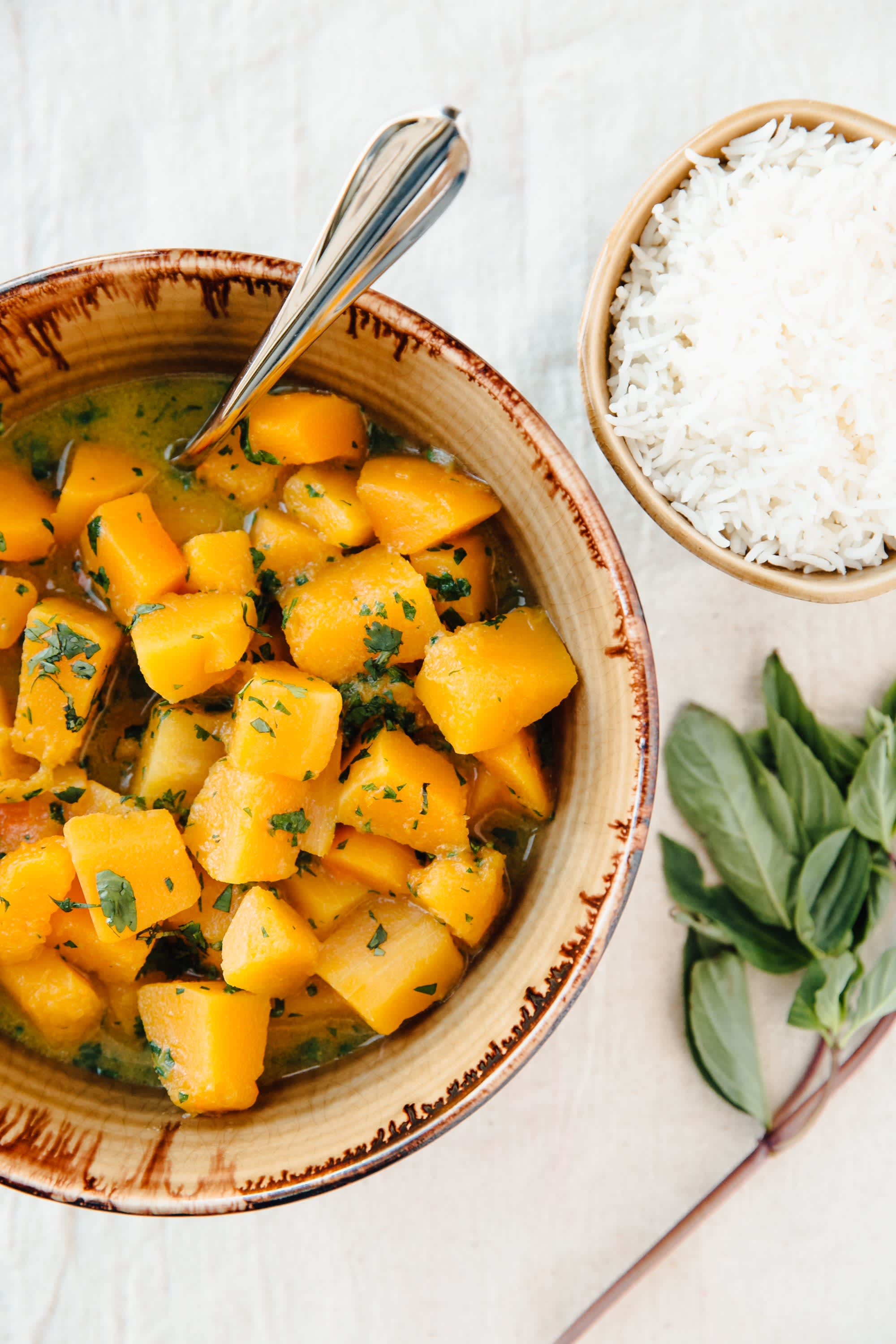 Butternut Squash Green Curry