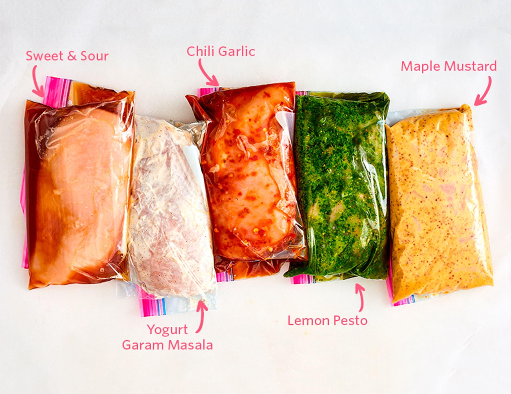 5 Freezer Marinades for Chicken or Pork