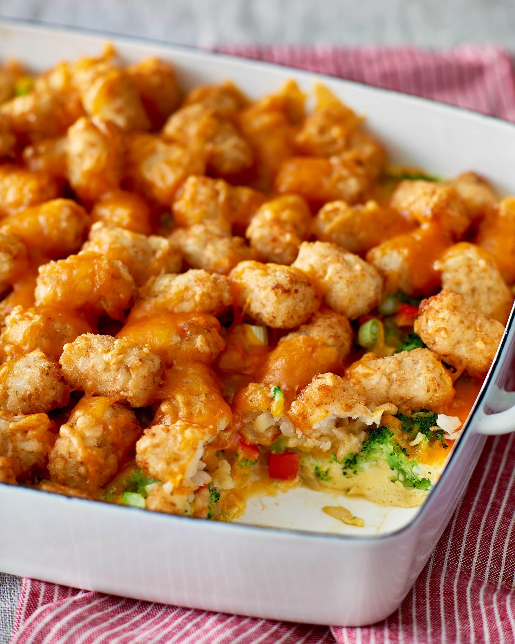 Recipe: Veggie-Packed Tater Tot Breakfast Bake