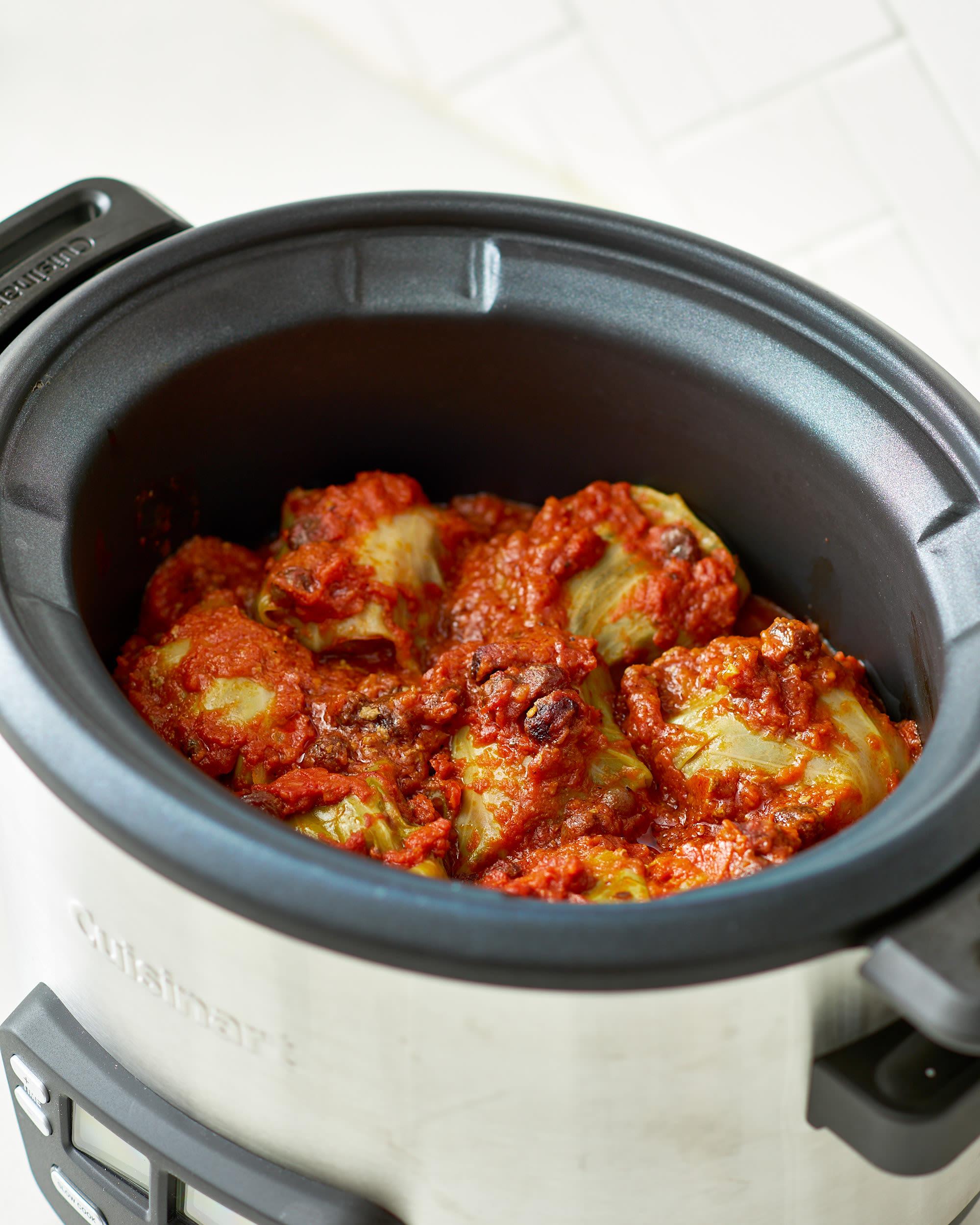 Recipe: Slow Cooker Stuffed Cabbage Rolls