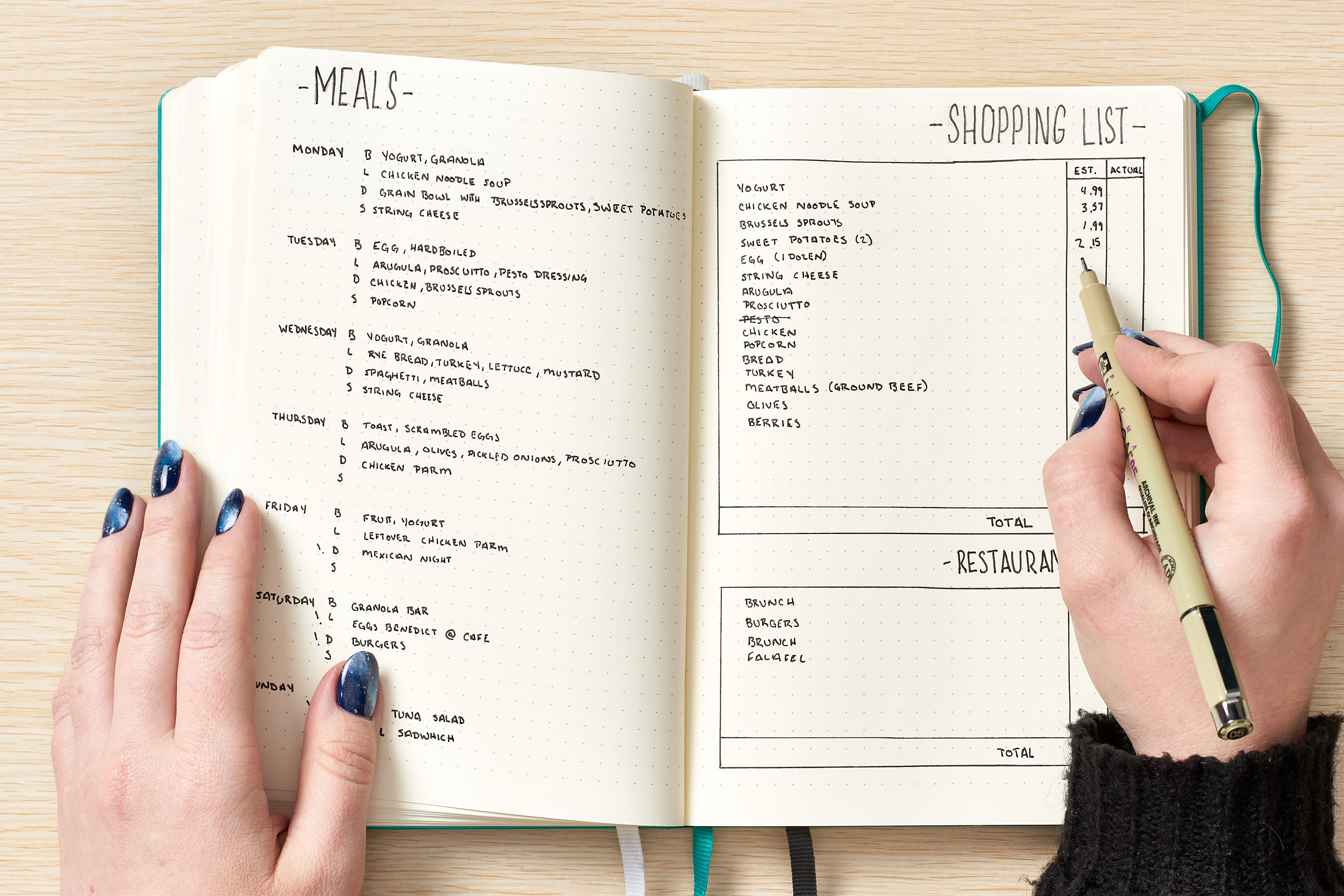 How To Use a Bullet Journal to Meal Plan and Track Your Food Budget, According to the Creator: gallery image 12