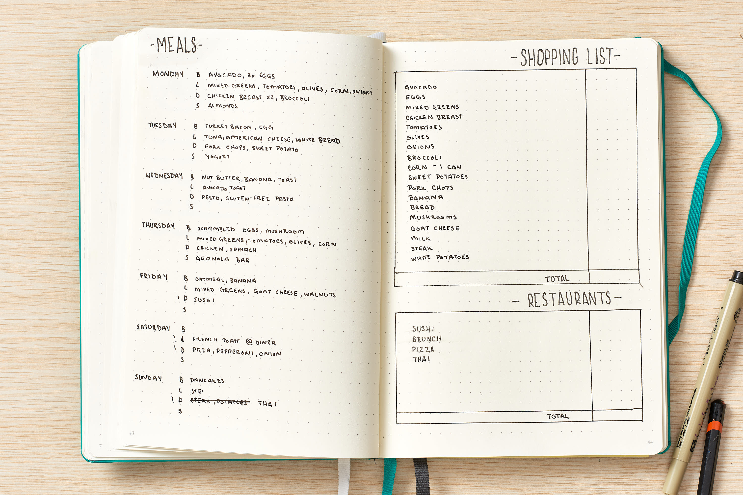 How To Use a Bullet Journal to Meal Plan and Track Your Food Budget, According to the Creator: gallery image 9