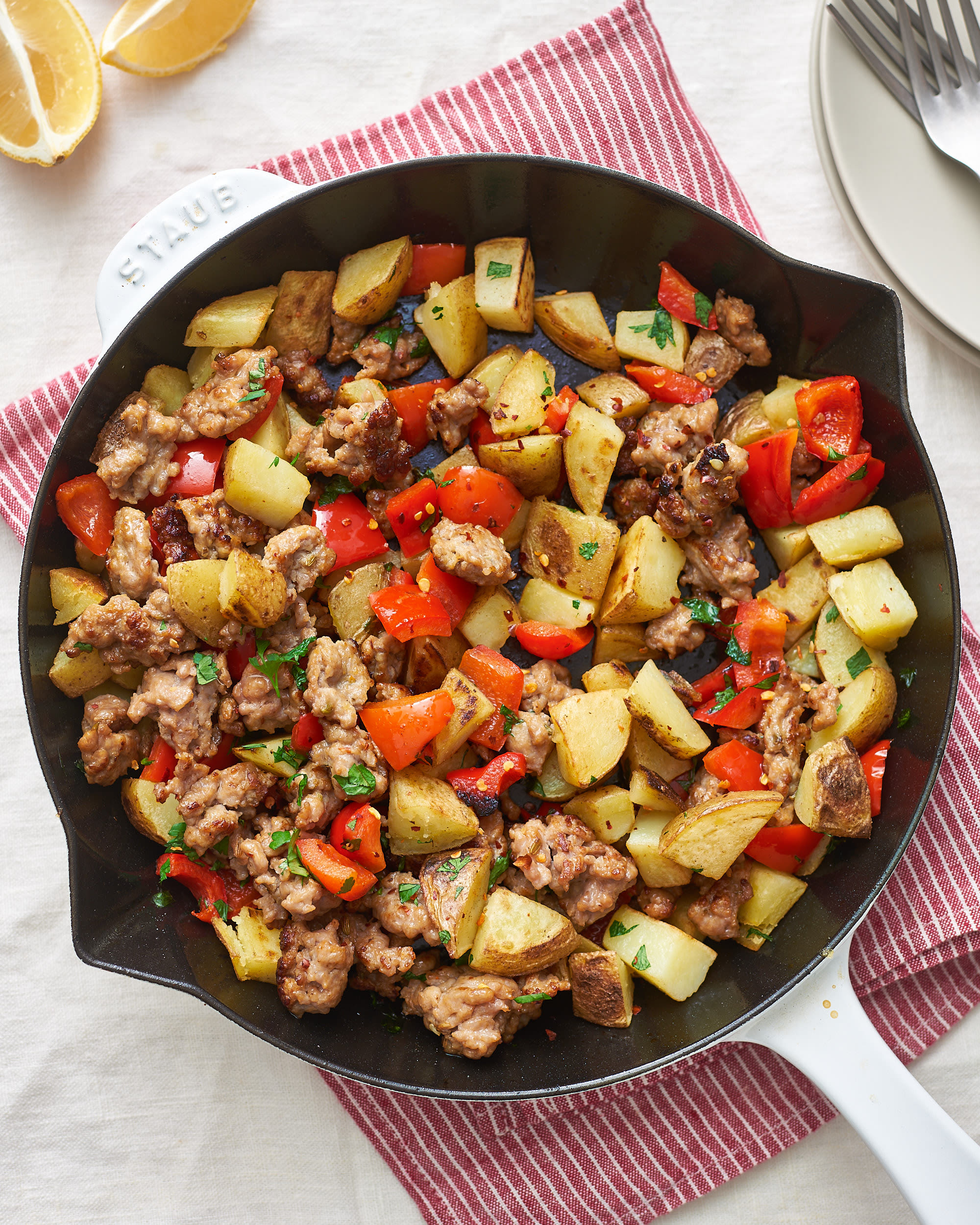 Recipe: Fried Potatoes and Sausage Skillet