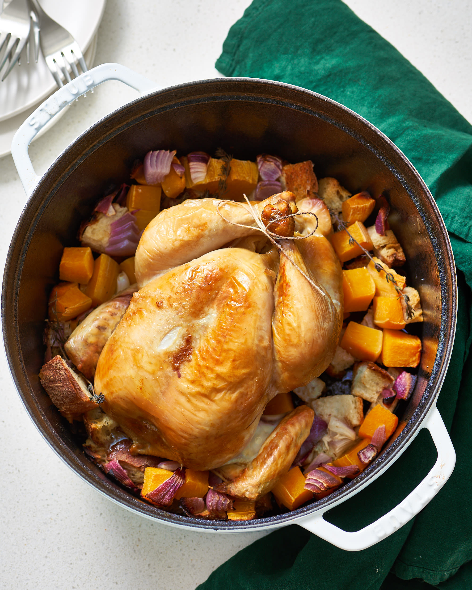 A Whole Roasted Chicken Dinner In A Dutch Oven  Kitchn-1444