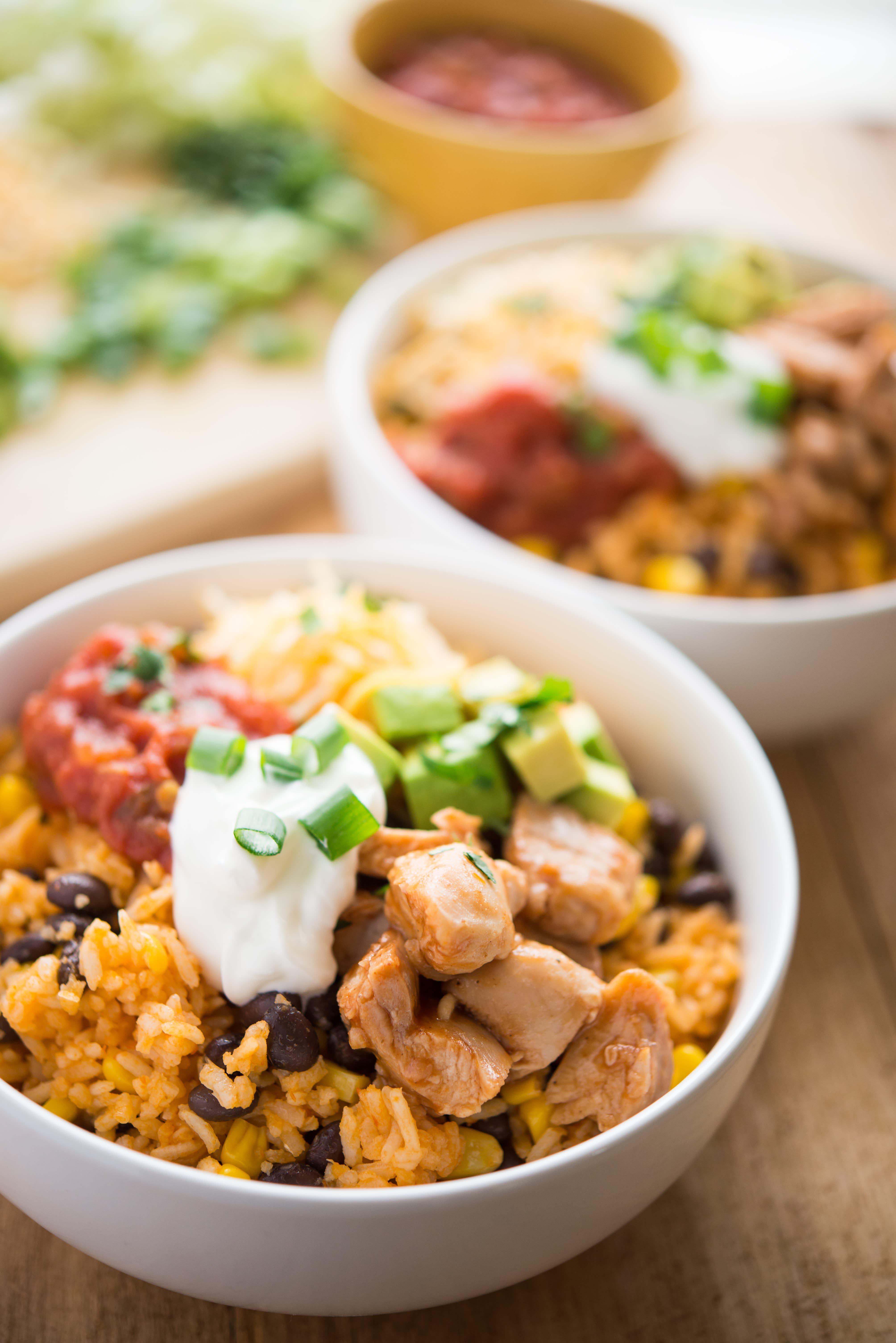 BBQ Chicken Burrito Bowls