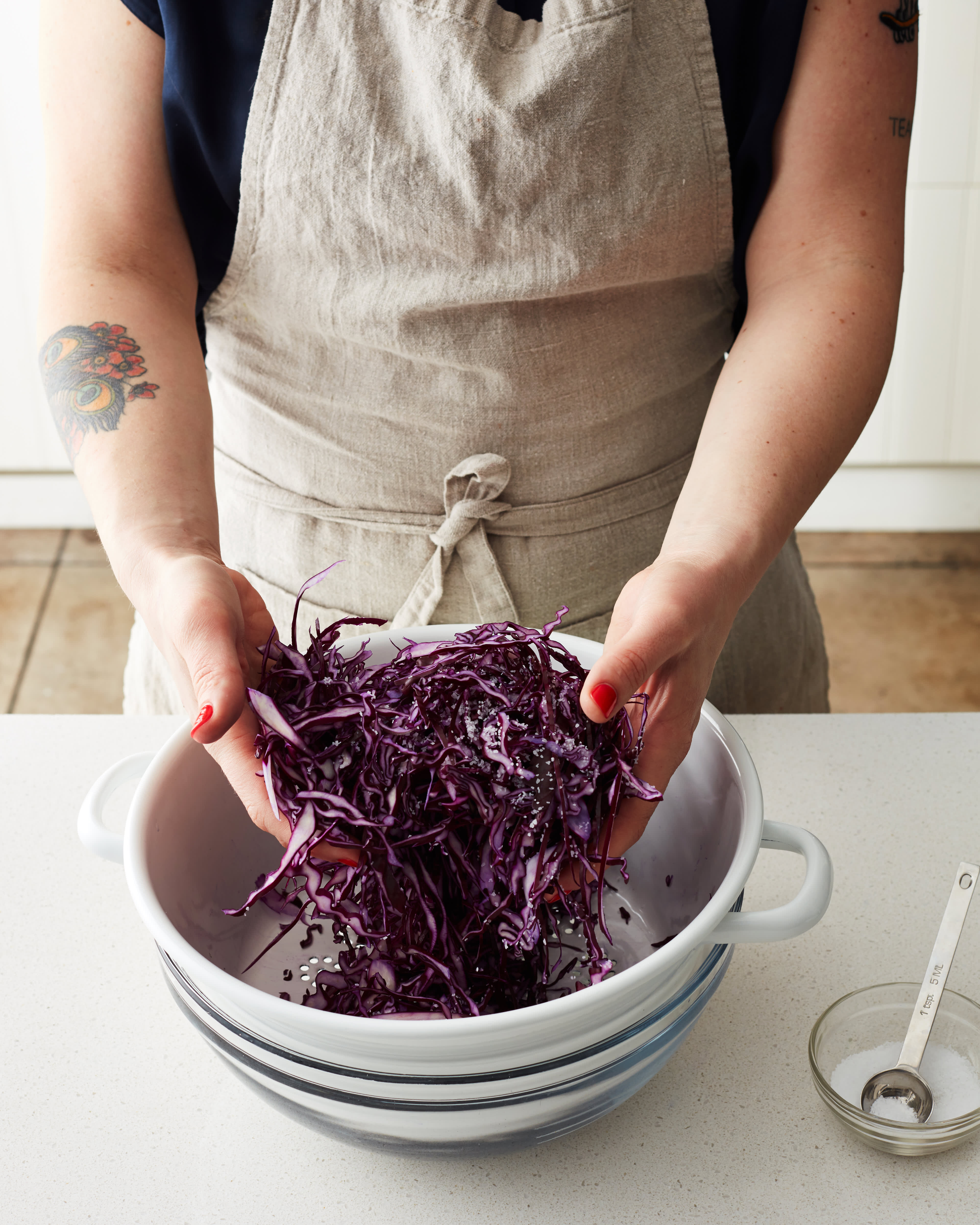 Recipe: Cabbage Apple Slaw with Honey-Lime Dressing: gallery image 2