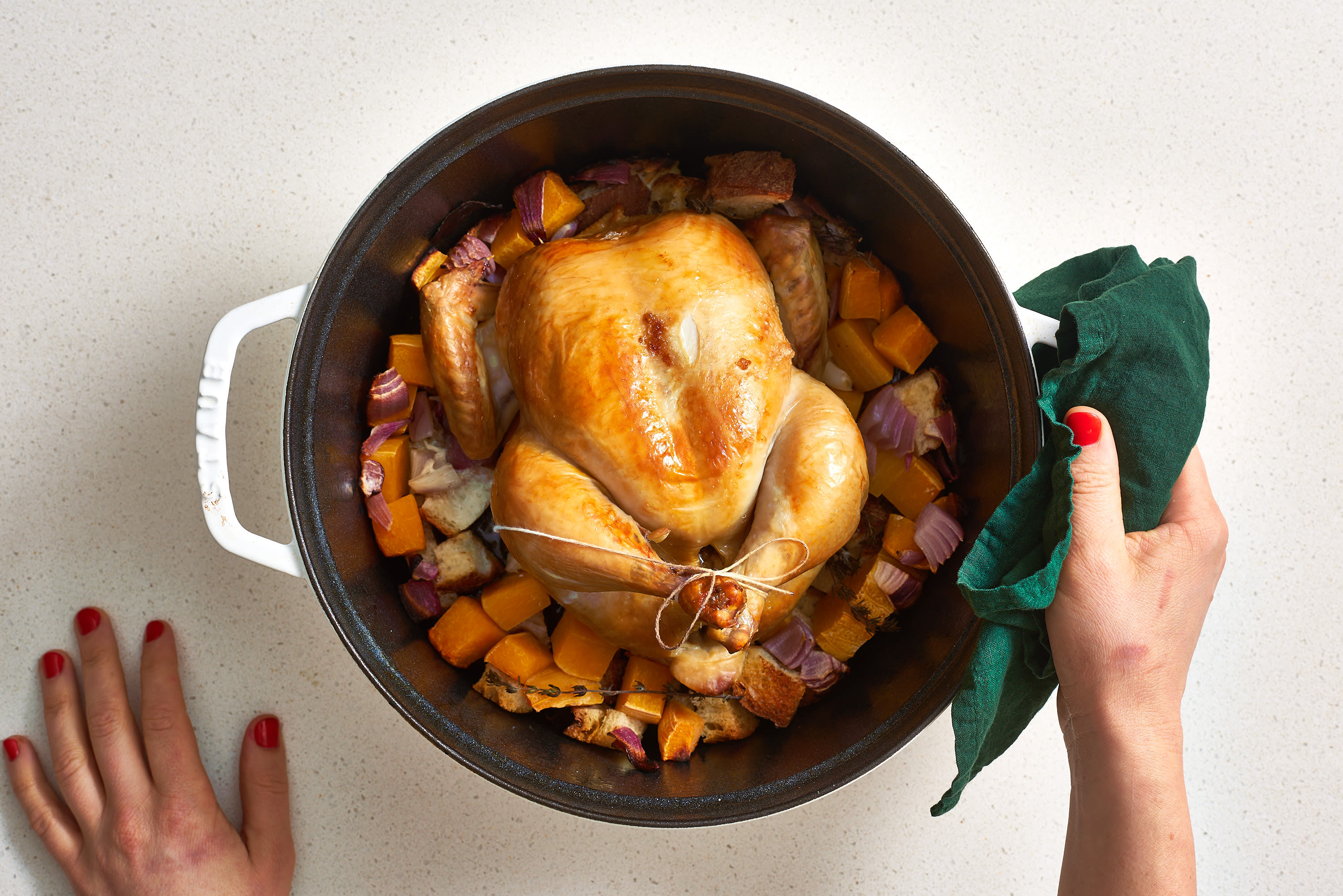 A Whole Roasted Chicken Dinner In A Dutch Oven  Kitchn-2436