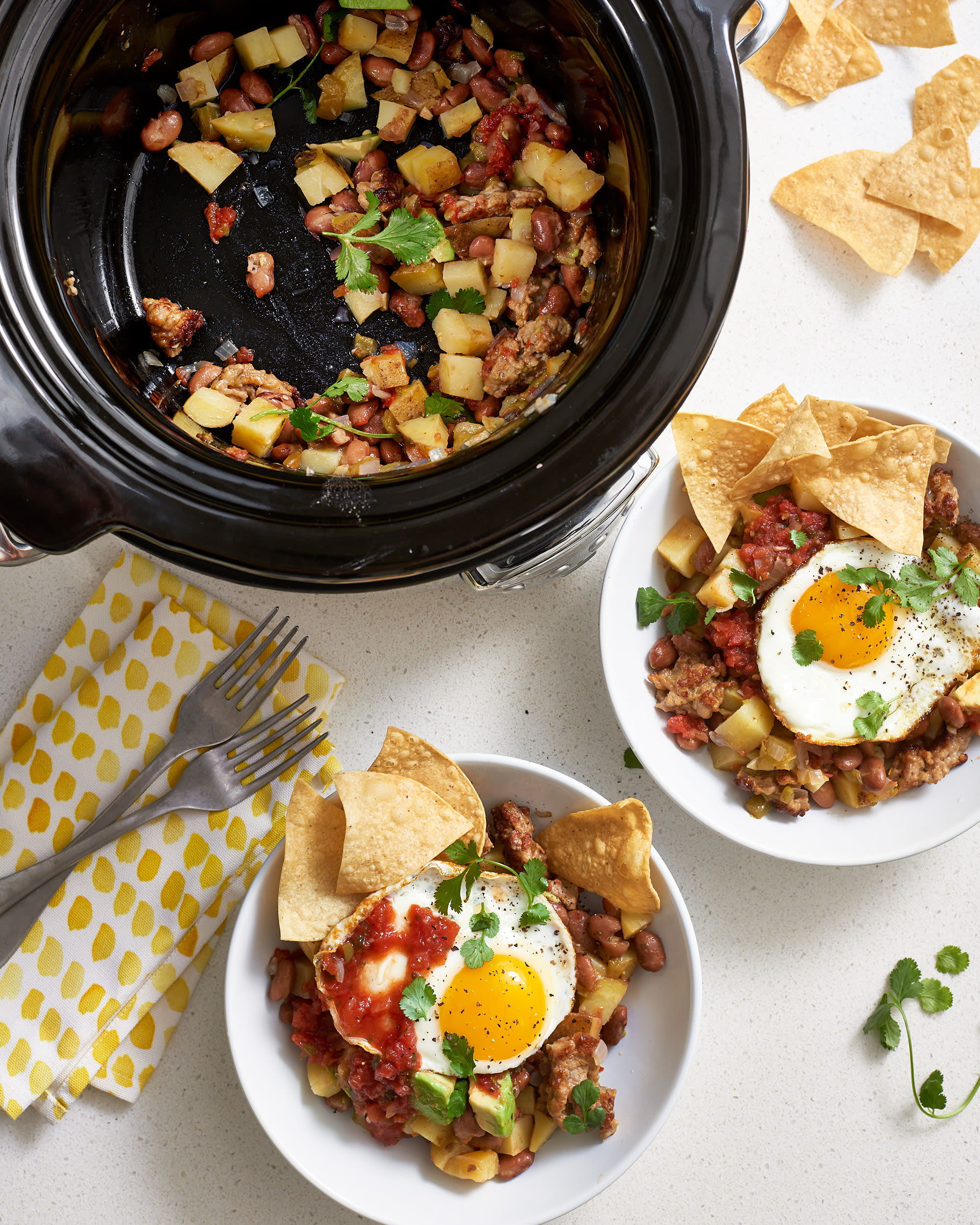How To Make Slow Cooker Breakfast Burrito Bowls: gallery image 7