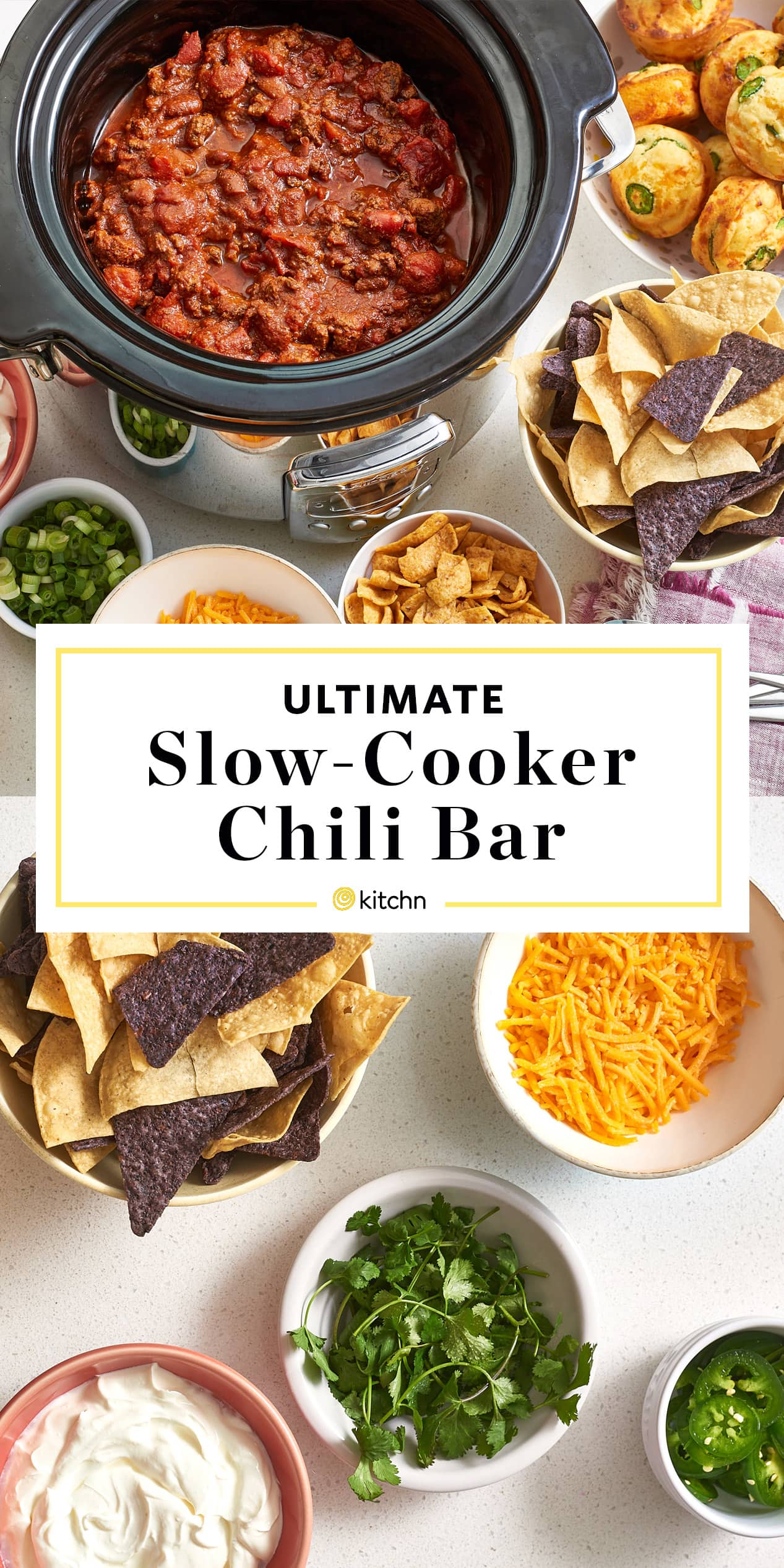 Slow Cooker Chili Bar Party