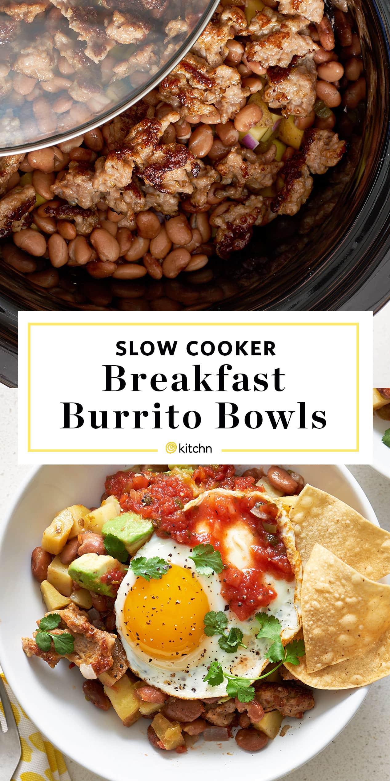 Slow Cooker Breakfast Burrito Bowls Recipe