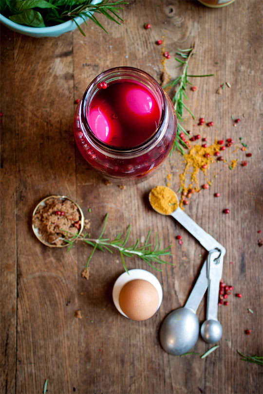 Recipe: Beet-Pickled Deviled Eggs: gallery image 7