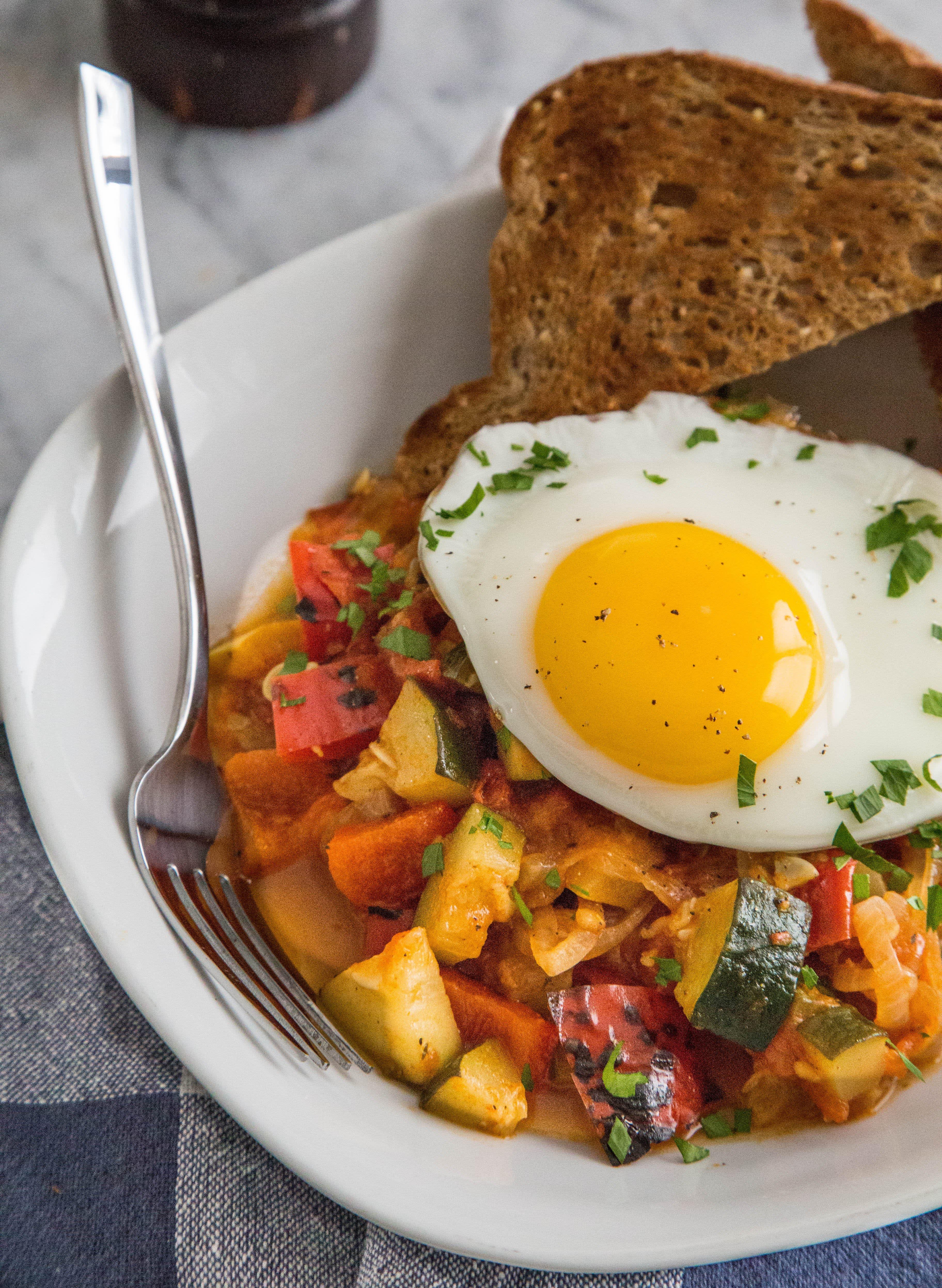 Piperade-Ratatouille and Eggs