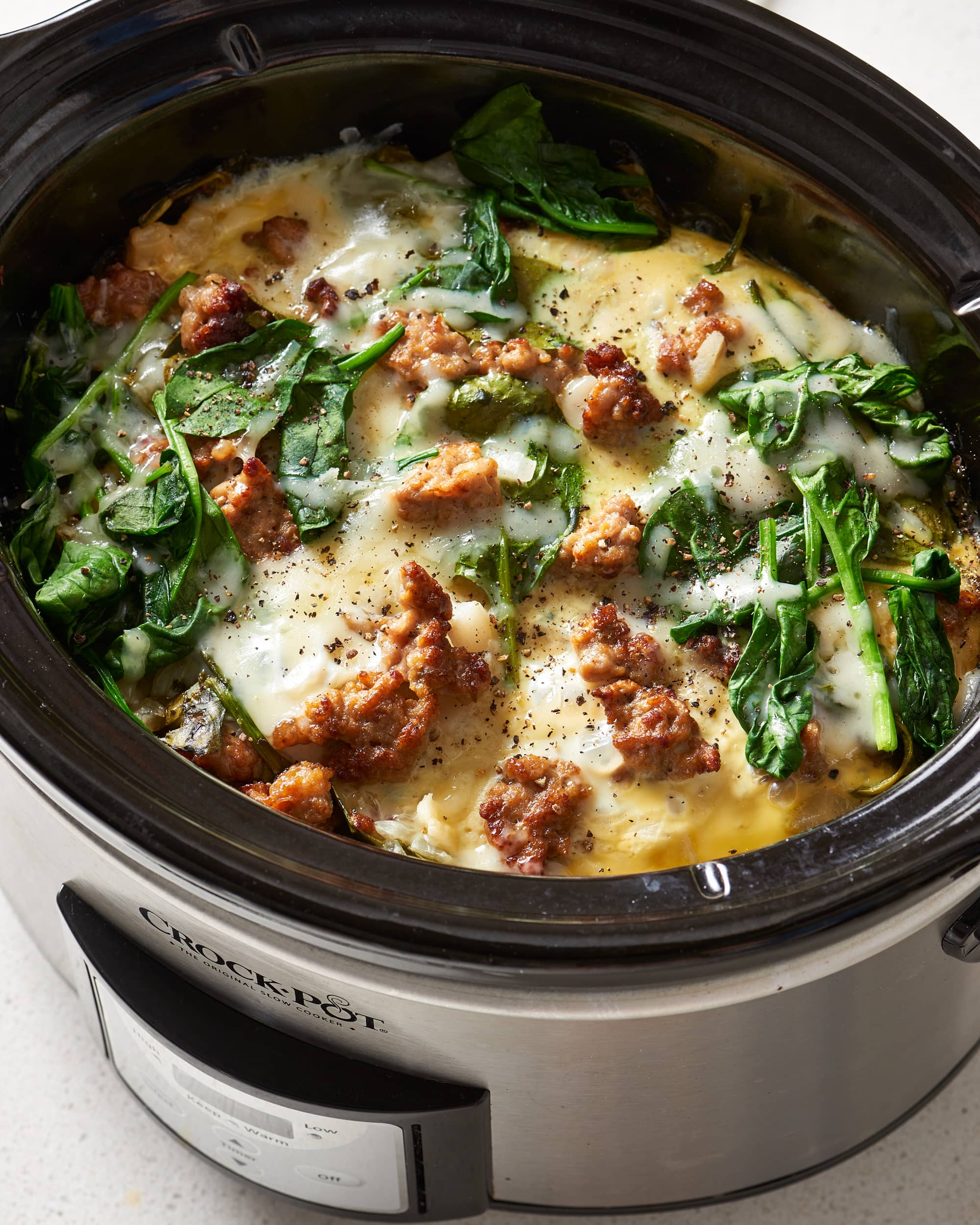 Recipe: Slow Cooker Sausage and Spinach Breakfast Casserole
