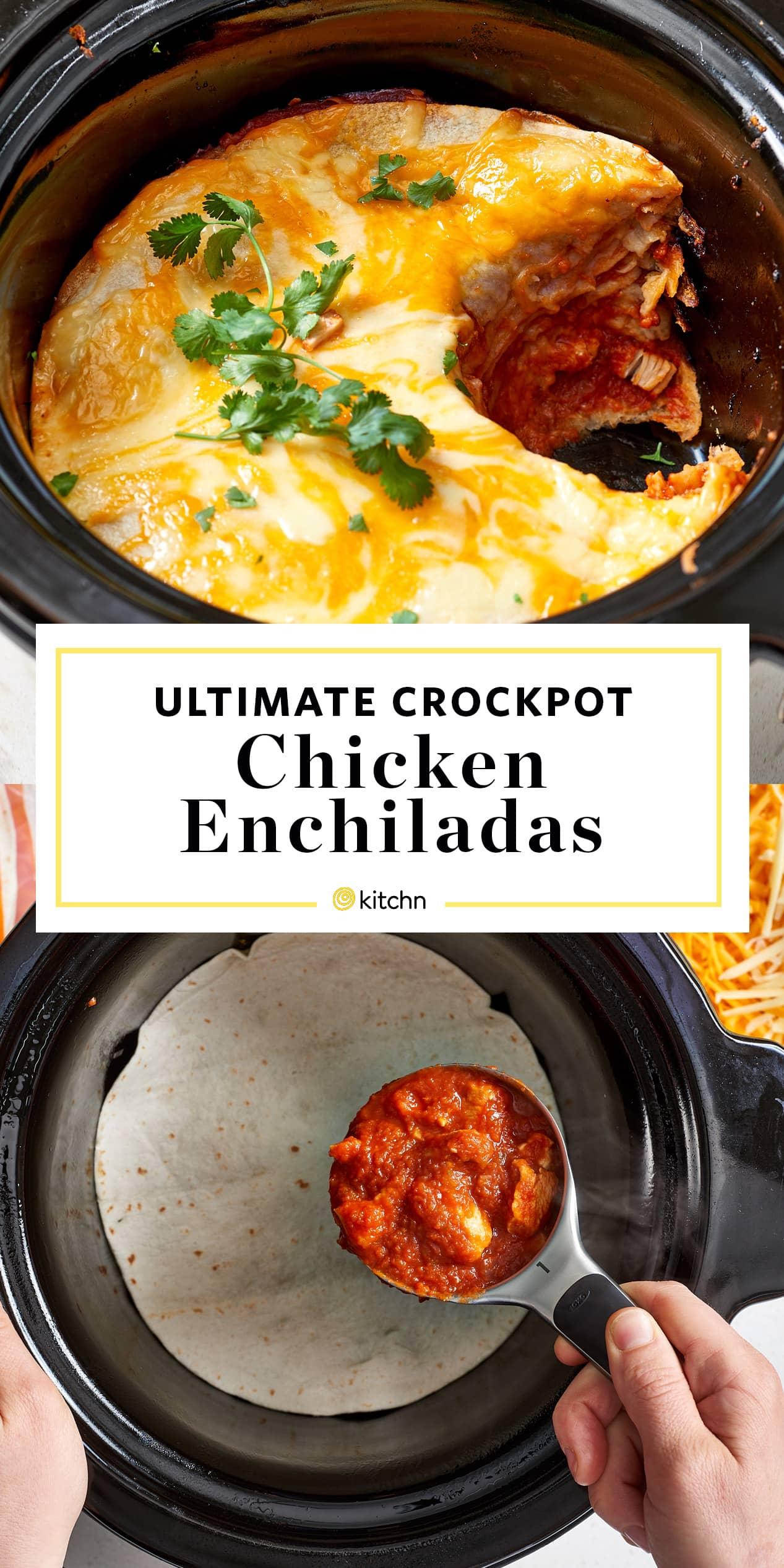 Easy Slow Cooker Chicken Enchilada Recipe