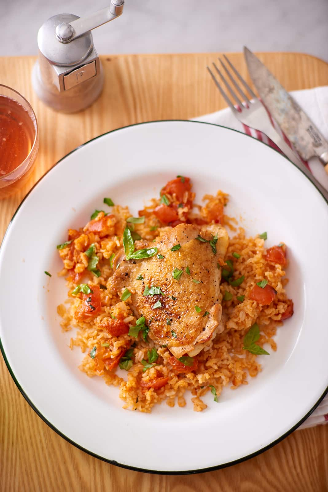 Make Skillet Chicken Thighs with Creamy Tomato Sauce Tonight