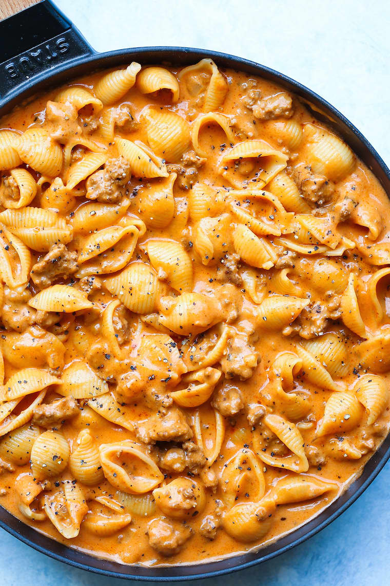 You Should Make Creamy Beef and Shells for Dinner Tonight