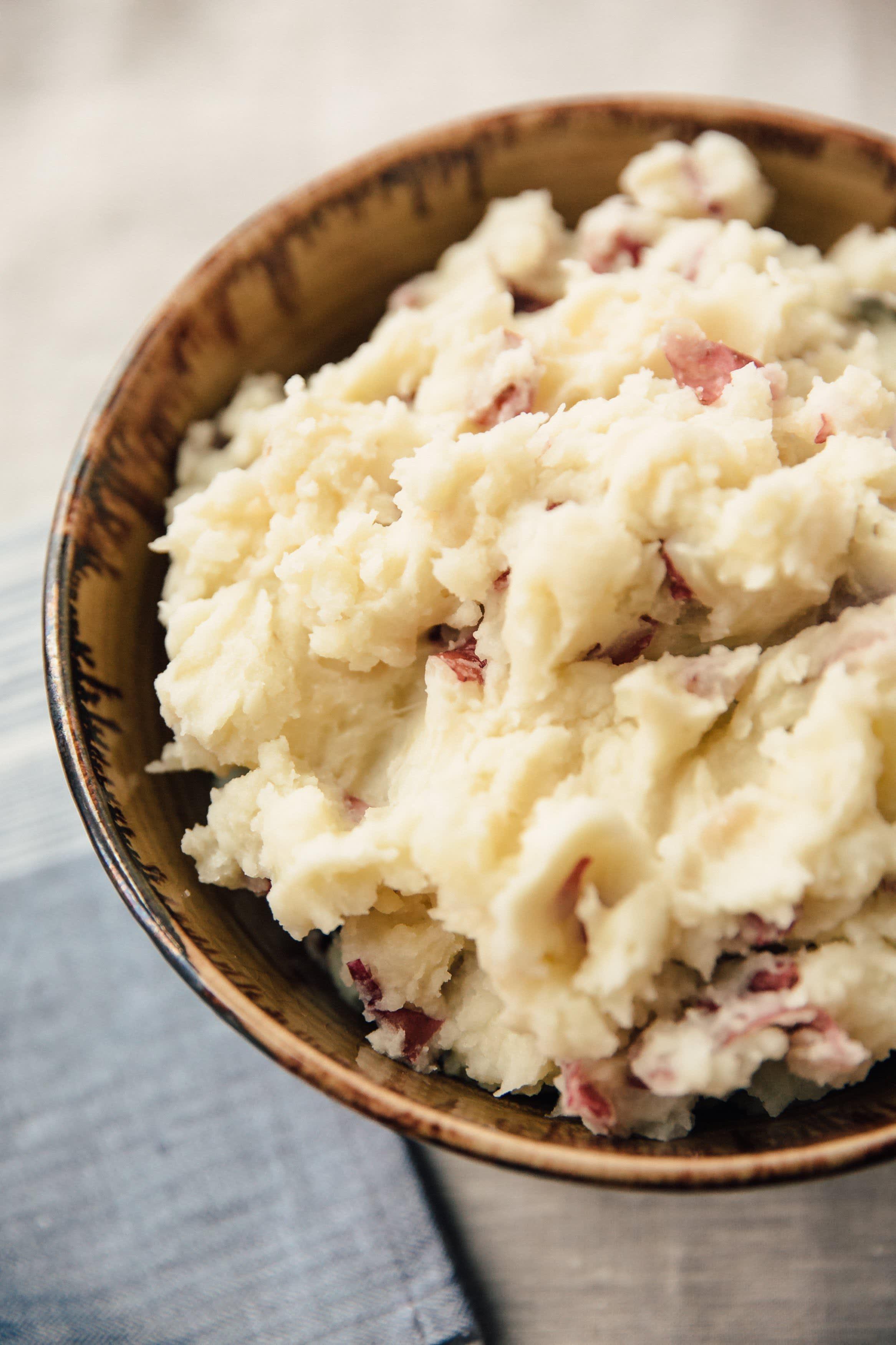 Rustic Garlic Mashed Potatoes