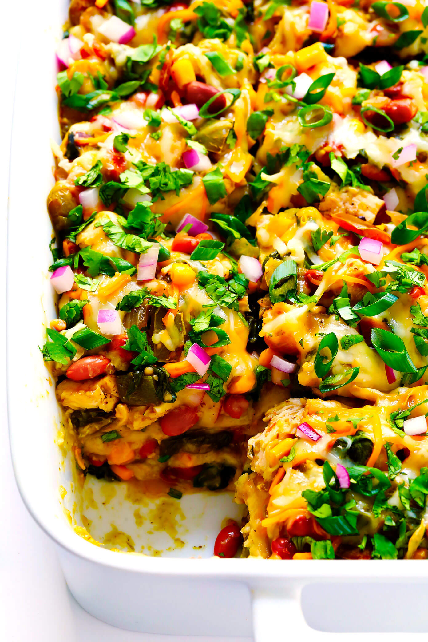 This Layered Chicken Enchilada Casserole Is a Must-Make