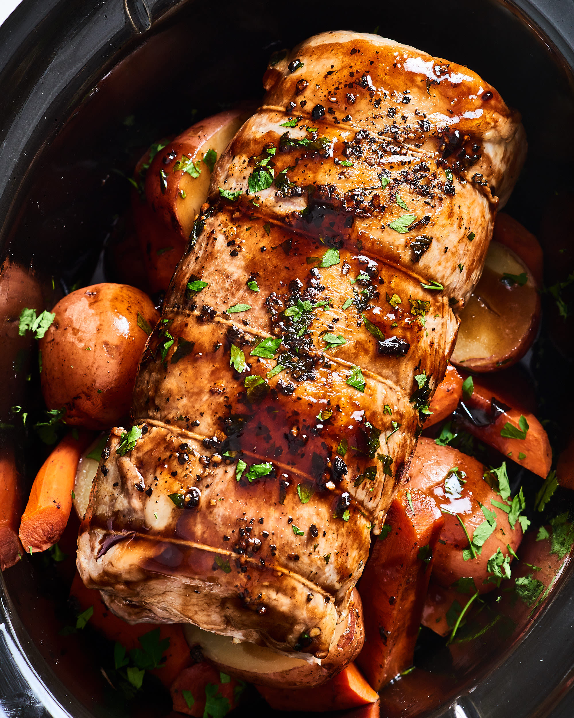 This Slow Cooker Honey-Balsamic Pork Loin Couldn't Be Easier