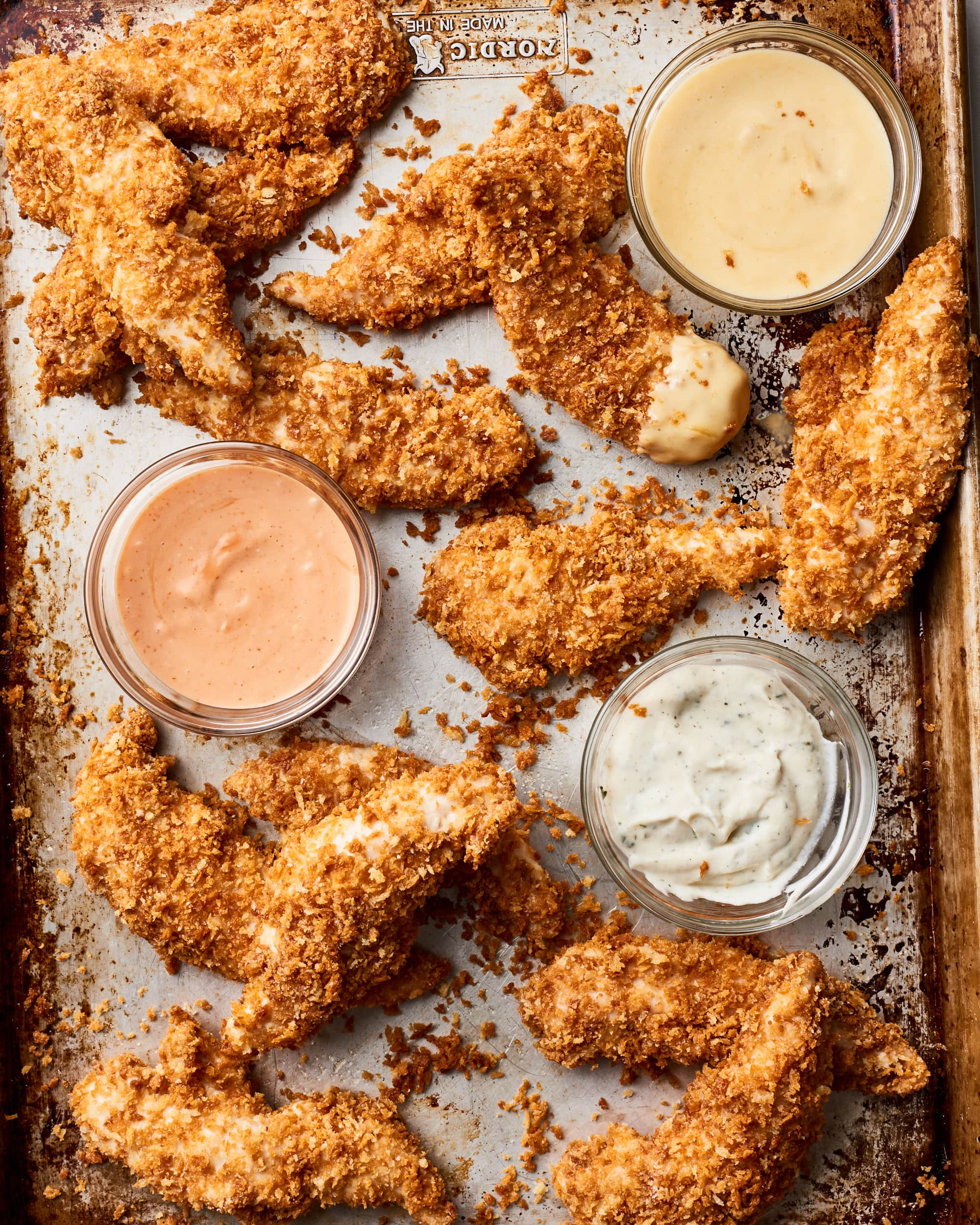 How To Make Crispy Oven-Baked Chicken Tenders with Creamy Dip Trio