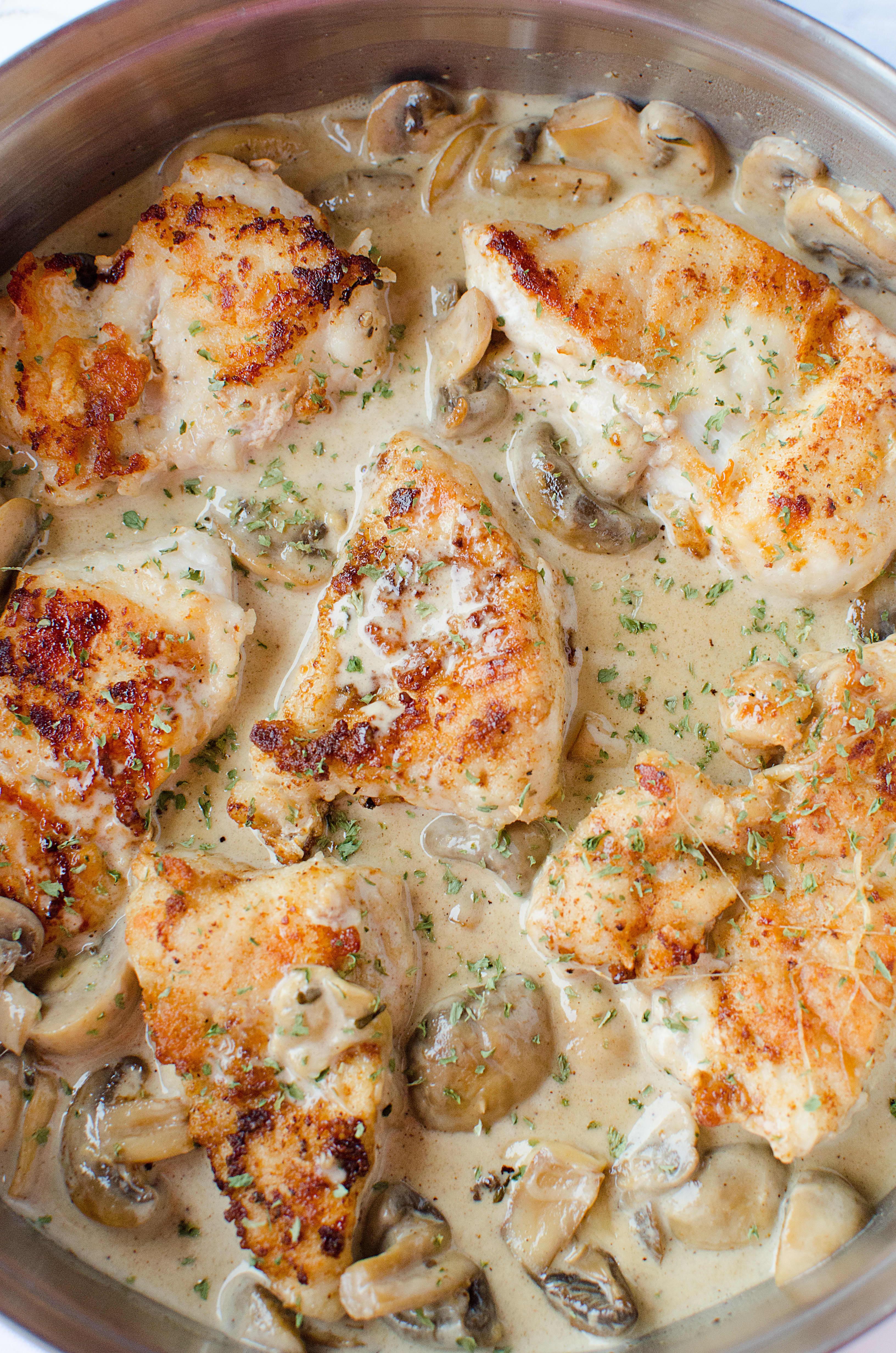 This Creamy Mushroom Asiago Chicken Is a Masterpiece
