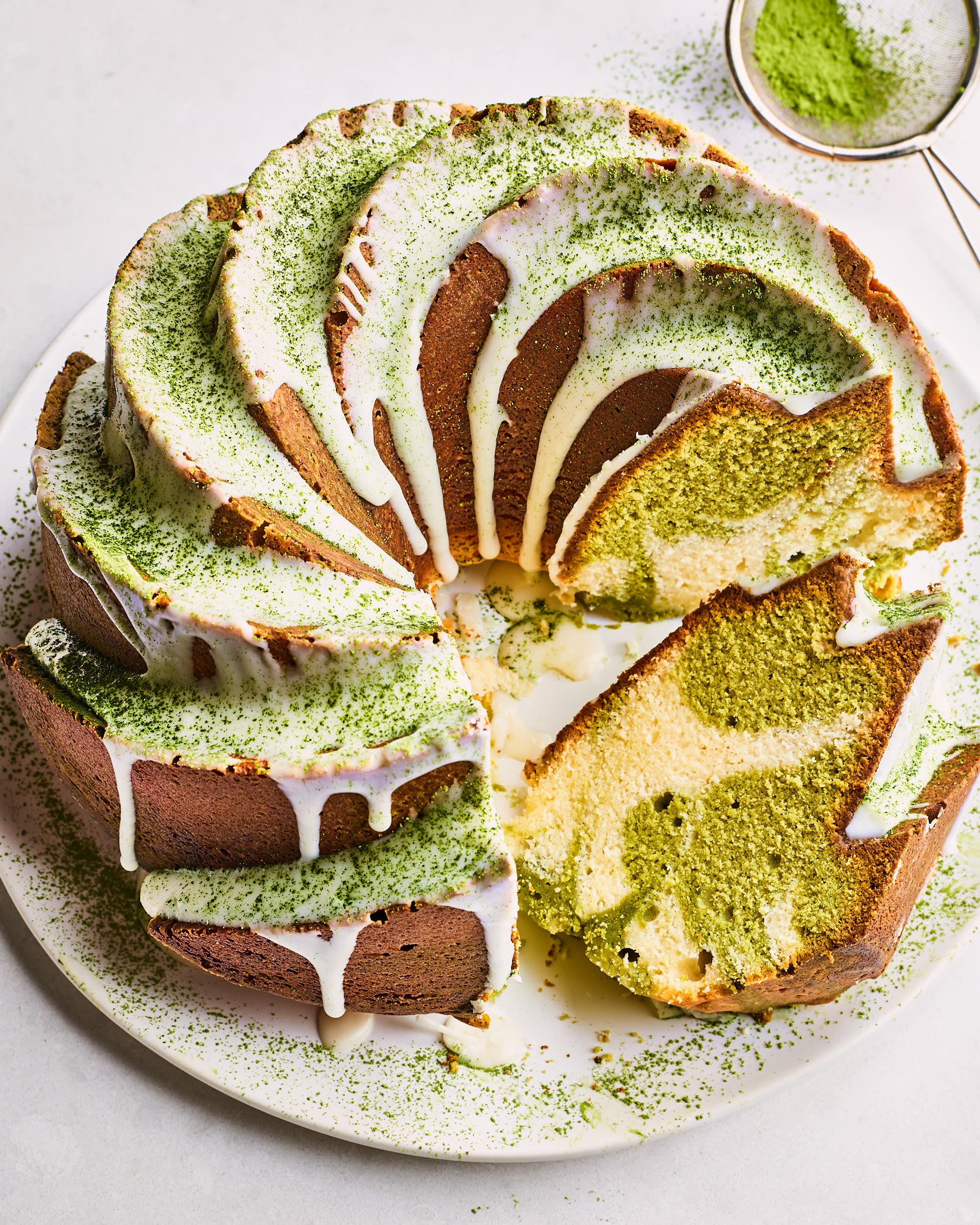 Recipe: Matcha-Vanilla Swirled Pound Cake