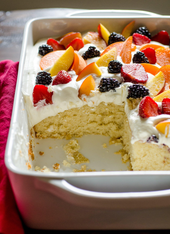 Recipe Easy Summer Cake With Fruit Amp Cream Kitchn