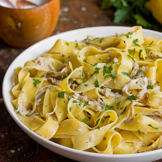 pasta recipe creamy braised chicken with pappardelle kitchn