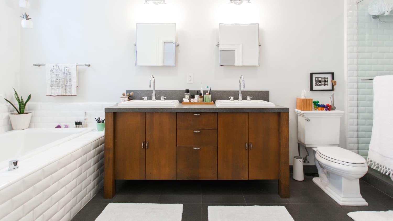 Home Architec Ideas Bathroom Decor Ideas Brown Tile