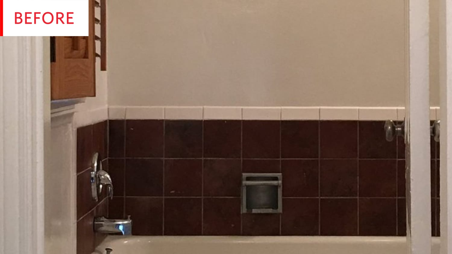 Vinyl Peel and Stick Tile Decals - Bathroom Remodel | Apartment Therapy
