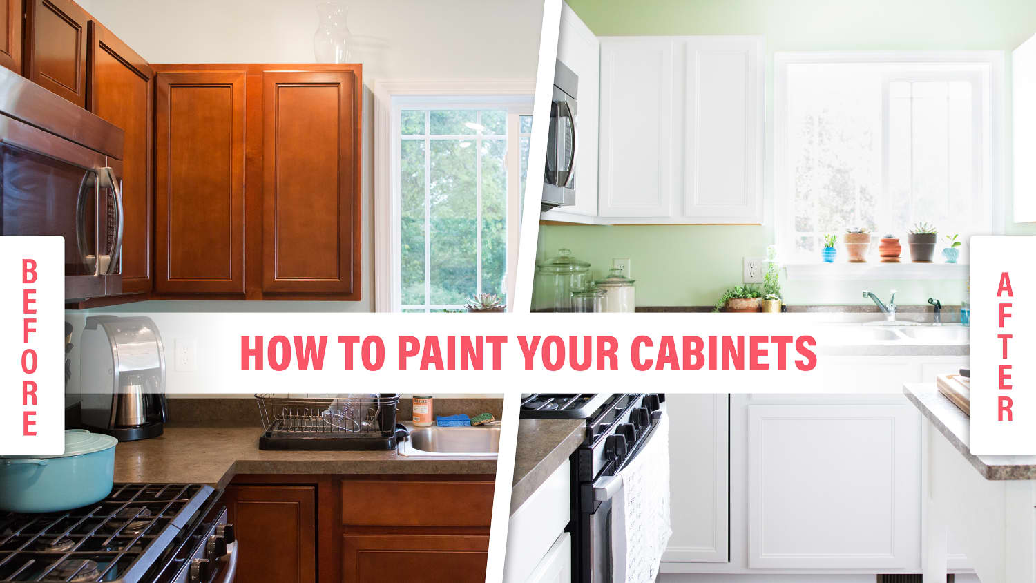 How To Paint Wood Kitchen Cabinets with White Paint | Kitchn