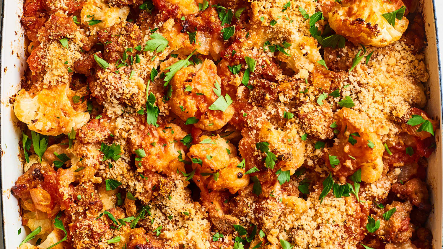 Cauliflower & Chicken Sausage Casserole