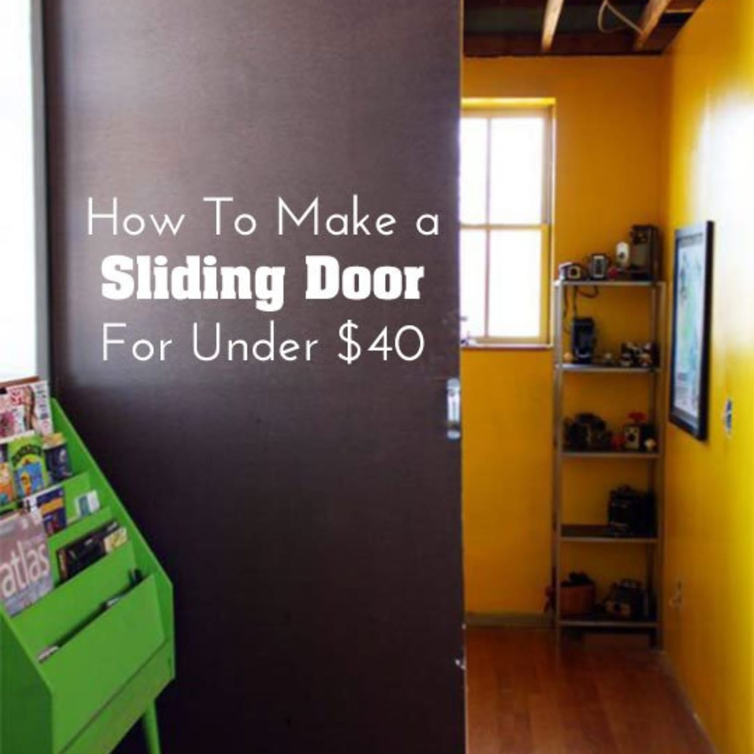 Diy Home Decor How To Make A Sliding Door For Under 40