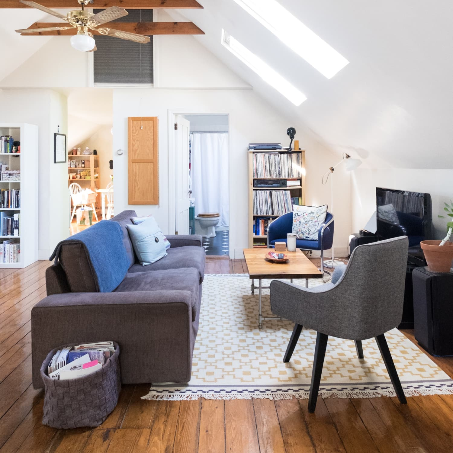 House Tour: Airy Attic Apartment in Providence | Apartment