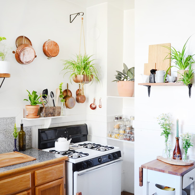 Rental Kitchen Decor Ideas Oak Wood Finish Cabinets Apartment