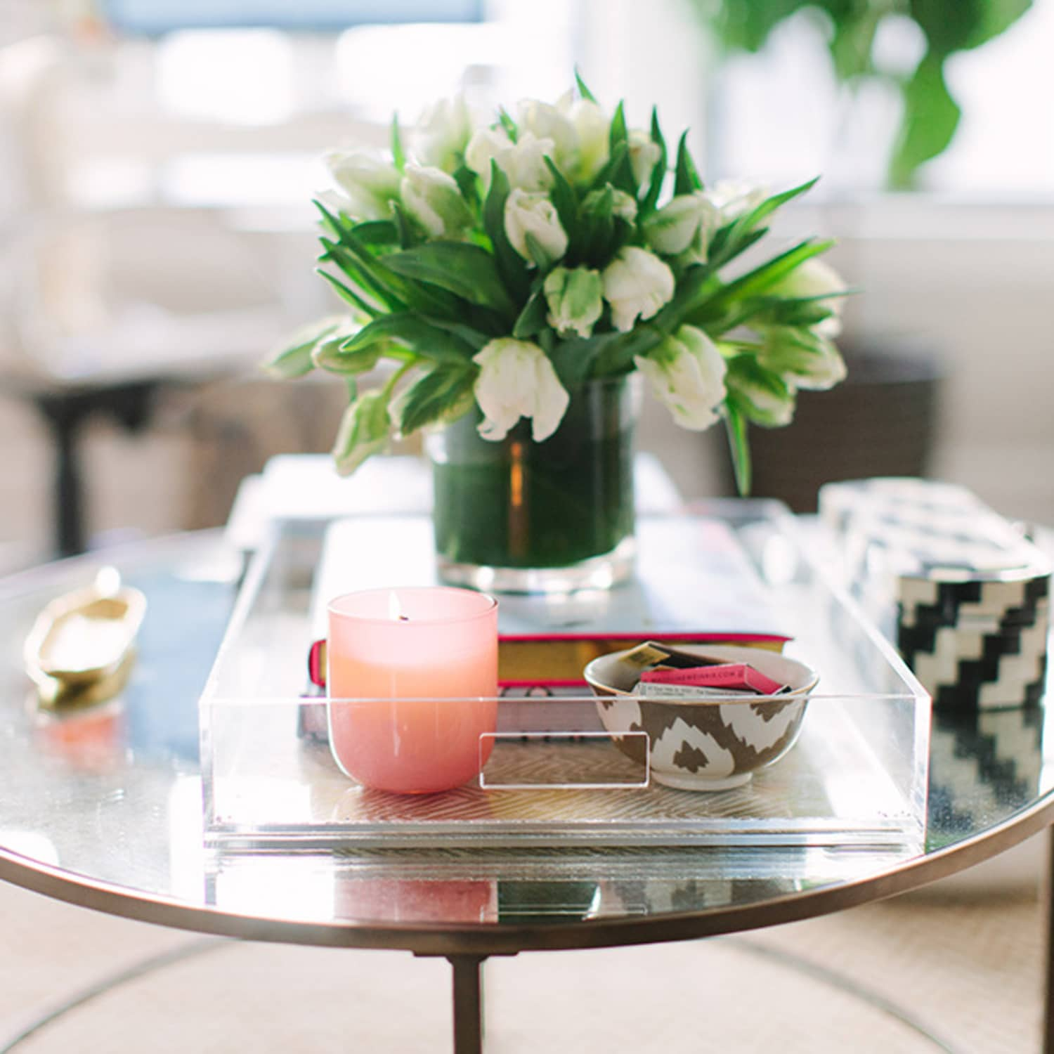 Flower Coffee Table.How To Style Your Coffee Table So You Can Still Use It Apartment