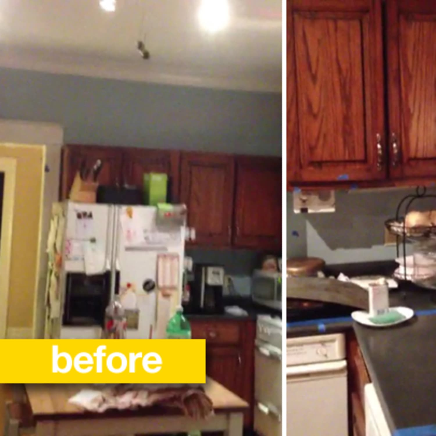 Kitchen Before After Cathy S Impressive Craigslist Sourced