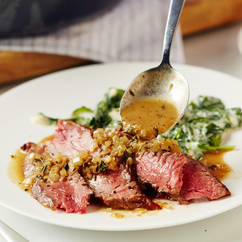 alton brown pan seared steak