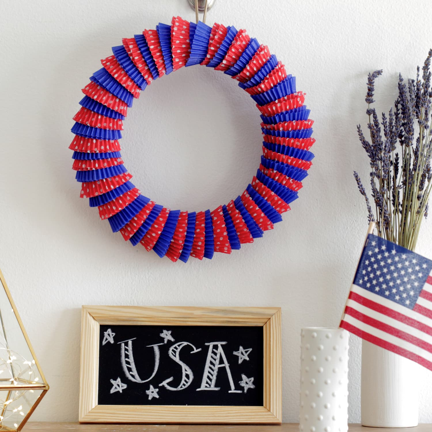 how to turn cupcake wrappers into a door wreath | kitchn