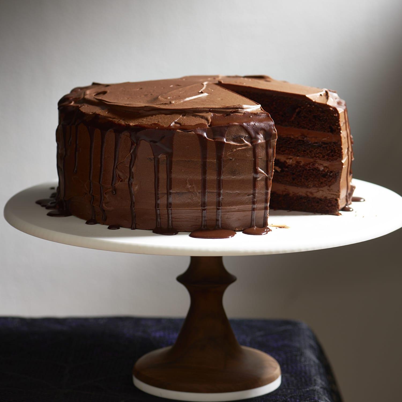 The Deepest Darkest Chocolate Cake