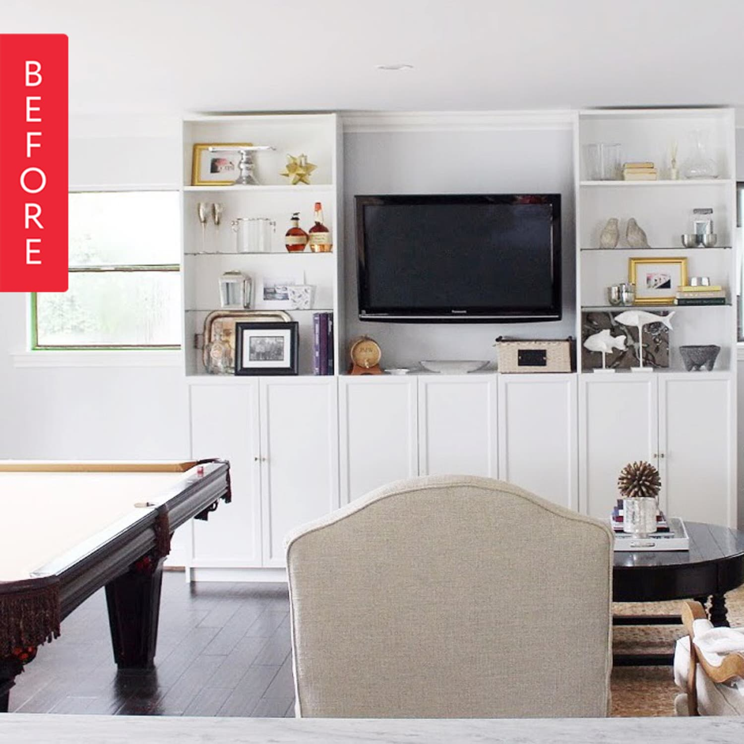 Before After A Beautiful Billy Bookcase Hack You Can Try