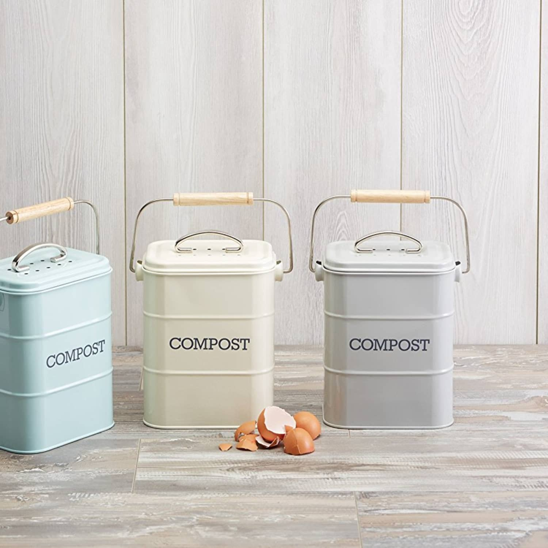 7 Compact U0026 Good Looking Indoor Composting Bins For Your Kitchen