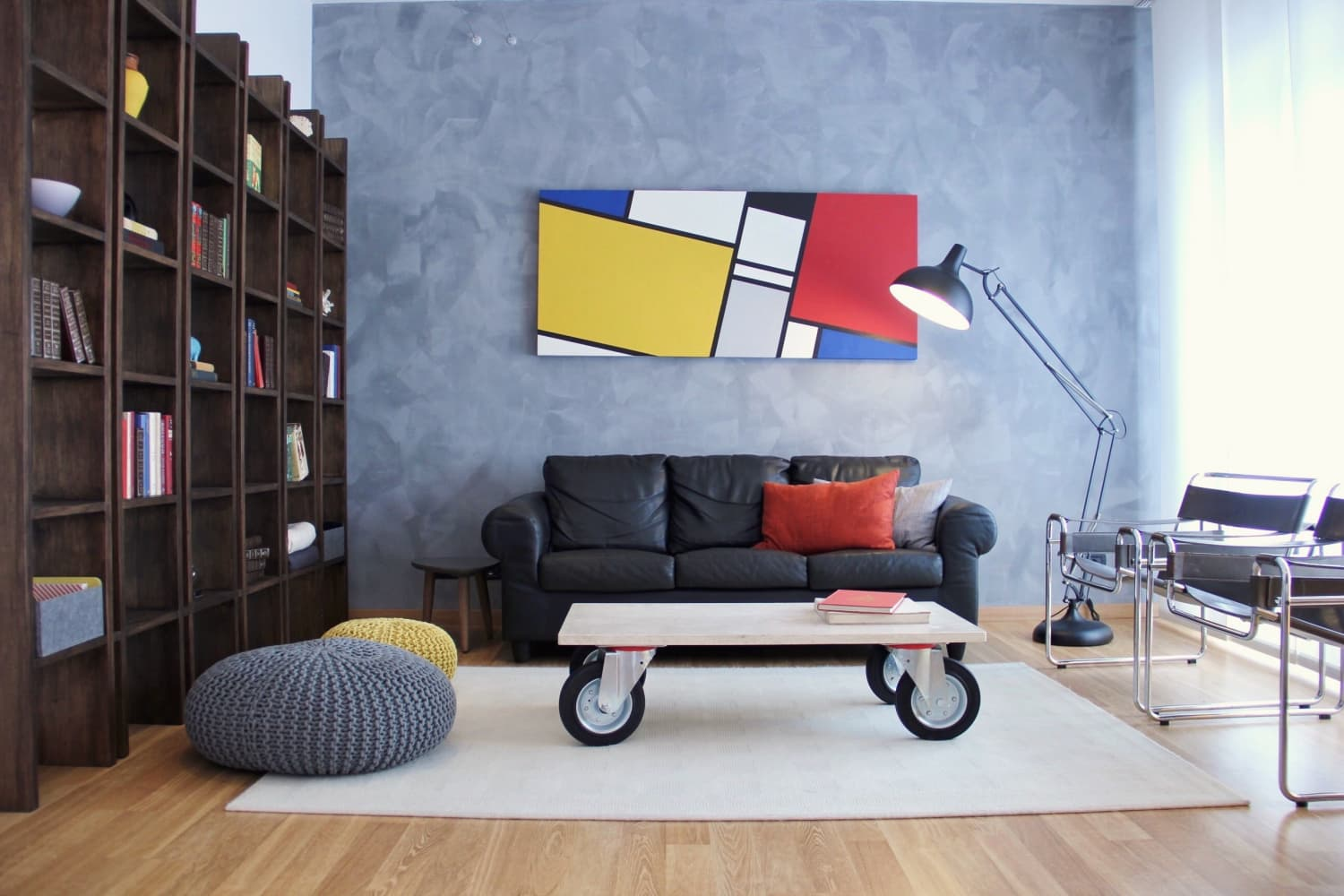 A Colorfully Modern Whimsical Home in Rome
