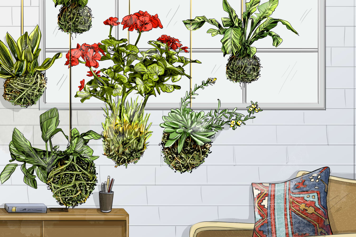 How to Make Kokedama: Hanging Gardens Perfect for Small Spaces