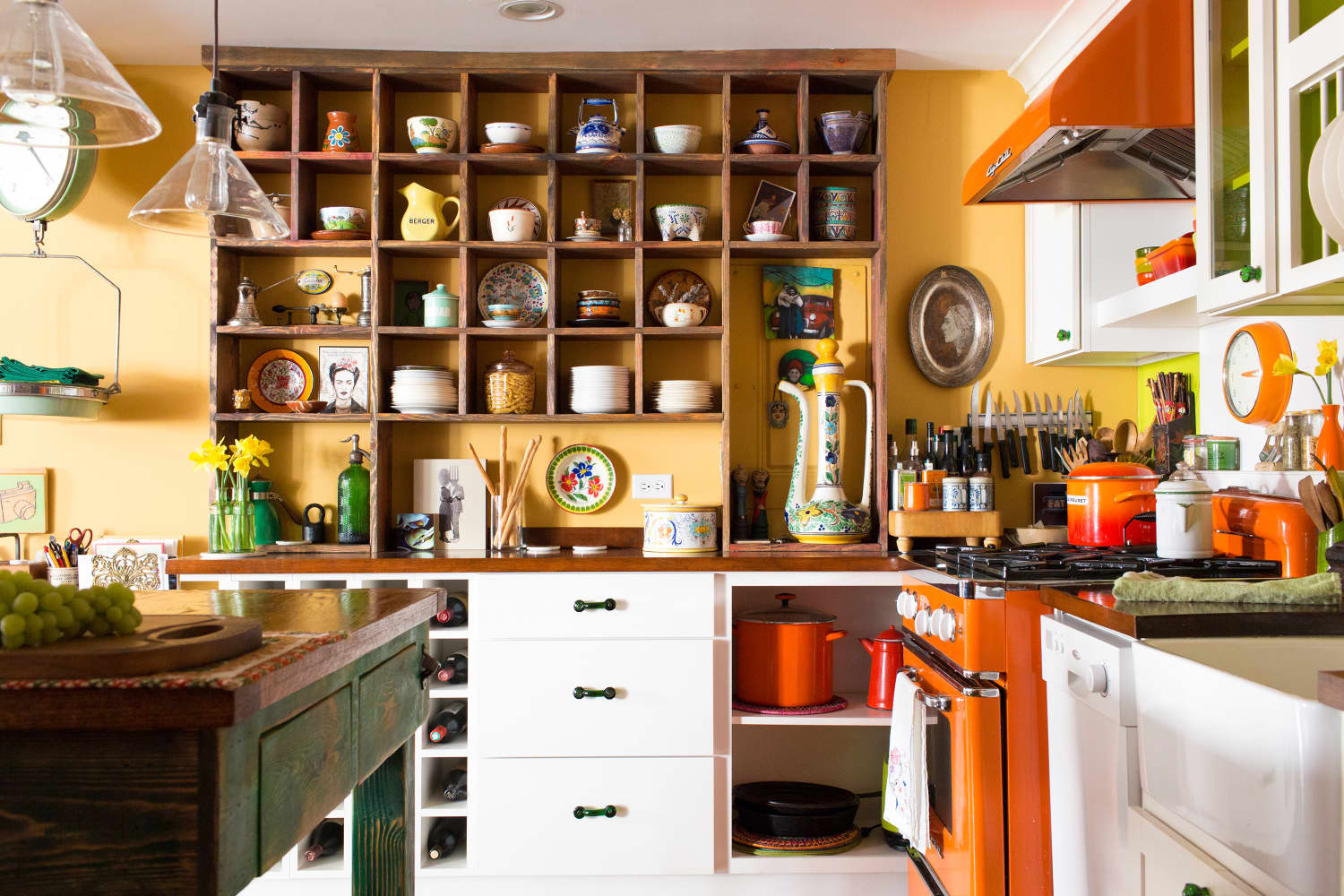 A Kitchen Storage Trend That's a Fresh Update on Floating Open Shelving