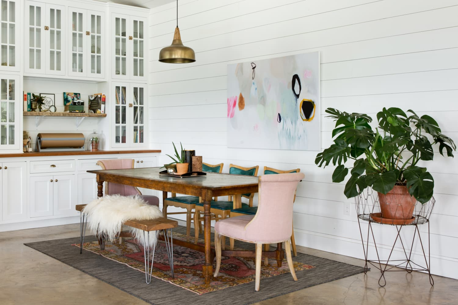 A Foolproof Layering Formula for a Dreamy Rustic Glam Dining Room